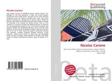 Couverture de Nicolas Carone
