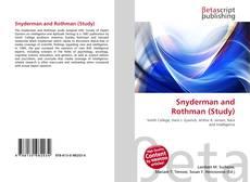 Capa do livro de Snyderman and Rothman (Study)