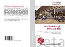 Portada del libro de Achille Ambrogio Damiano Ratti