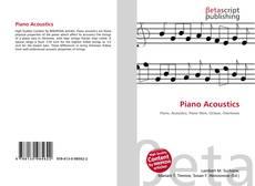 Bookcover of Piano Acoustics