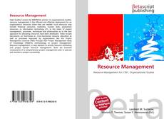 Bookcover of Resource Management