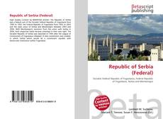 Bookcover of Republic of Serbia (Federal)