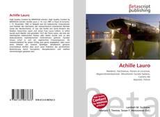 Copertina di Achille Lauro