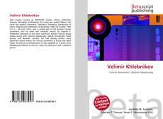 Bookcover of Velimir Khlebnikov