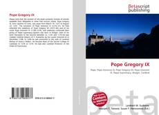 Bookcover of Pope Gregory IX