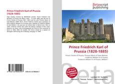 Portada del libro de Prince Friedrich Karl of Prussia (1828-1885)