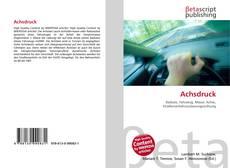 Capa do livro de Achsdruck