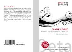 Обложка Severity Order
