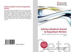 Borítókép a  Sahitya Akademi Award to Rajasthani Writers - hoz