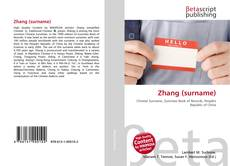 Bookcover of Zhang (surname)