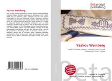 Bookcover of Yaakov Weinberg