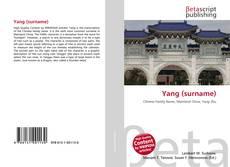 Yang (surname)的封面
