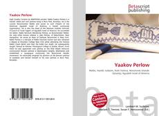 Bookcover of Yaakov Perlow