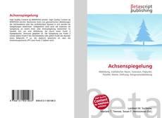 Bookcover of Achsenspiegelung