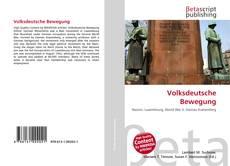 Bookcover of Volksdeutsche Bewegung