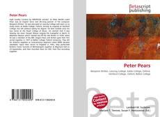 Portada del libro de Peter Pears