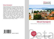 Bookcover of Obrad Stanojević