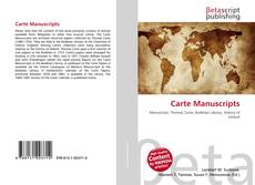 Buchcover von Carte Manuscripts