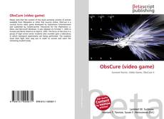 Capa do livro de ObsCure (video game)