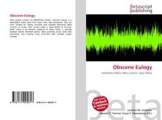 Bookcover of Obscene Eulogy