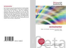 Bookcover of Achtelstetter