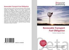 Buchcover von Renewable Transport Fuel Obligation