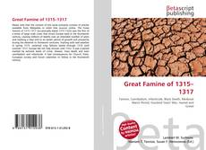 Bookcover of Great Famine of 1315–1317