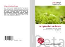 Portada del libro de Achyranthes atollensis