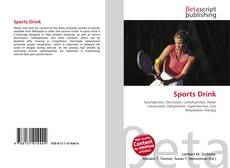 Bookcover of Sports Drink