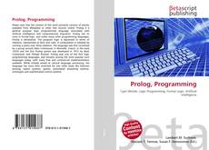 Bookcover of Prolog, Programming