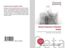 Bookcover of Social Sciences Citation Index