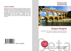 Bookcover of Acqua Vergine