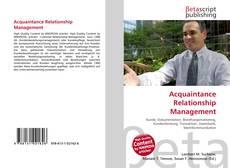 Buchcover von Acquaintance Relationship Management