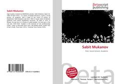 Bookcover of Sabit Mukanov