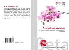 Bookcover of Acrochaene punctata
