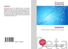 Bookcover of Sablefish