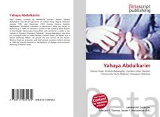 Bookcover of Yahaya Abdulkarim