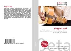 Bookcover of Sing it Loud