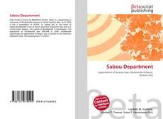Sabou Department kitap kapağı