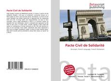 Capa do livro de Pacte Civil de Solidarité