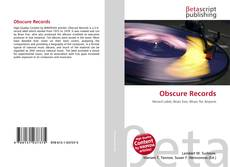 Capa do livro de Obscure Records
