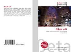 Portada del libro de Nikah 'urfi