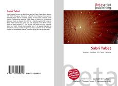 Bookcover of Sabri Tabet