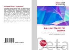 Supreme Council for Women kitap kapağı