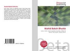 Wahid Baksh Bhutto kitap kapağı