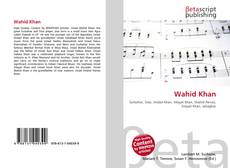 Bookcover of Wahid Khan