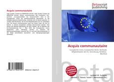 Acquis communautaire kitap kapağı