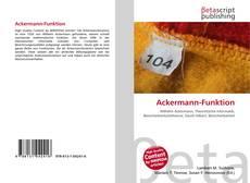 Portada del libro de Ackermann-Funktion