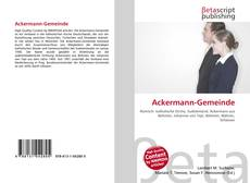 Bookcover of Ackermann-Gemeinde