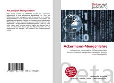 Bookcover of Ackermann-Mengenlehre